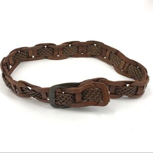 Levi's Women's Woven Braid Belt Size Large Brown